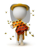 3d small - beekeeper — Stock Photo