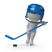 3d small - hockey — Stock Photo