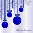 Christmas background with fur-tree spheres — Stock Vector
