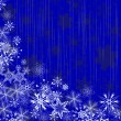 Winter blue background with snowflakes — Vector de stock