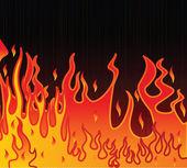 黑色背景上的火焰图 — 图库矢量图片