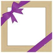 Quadro per foto con fiocco viola. eps10 — Vettoriale Stock