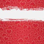 无缝 grunge 背景用的心 — 图库矢量图片