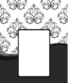 Floral vintage frame — Cтоковый вектор