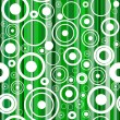Seamless green background with circles - Stock Vector