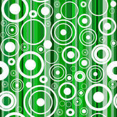 Seamless green background with circles — Stock Vector