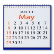 The vector image of a calendar for May, 2011. eps10 - Stock Vector