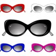 Collection of glamour sun glasses — Vector de stock