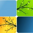 Four seasons banners — Stock Vector #5196583