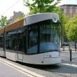 Tram on the street of Marseilles — Stock Photo