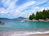 Beach at Budva's riviera — Stock Photo