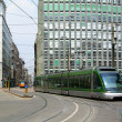 Tram on the street of Milan — Stock Photo