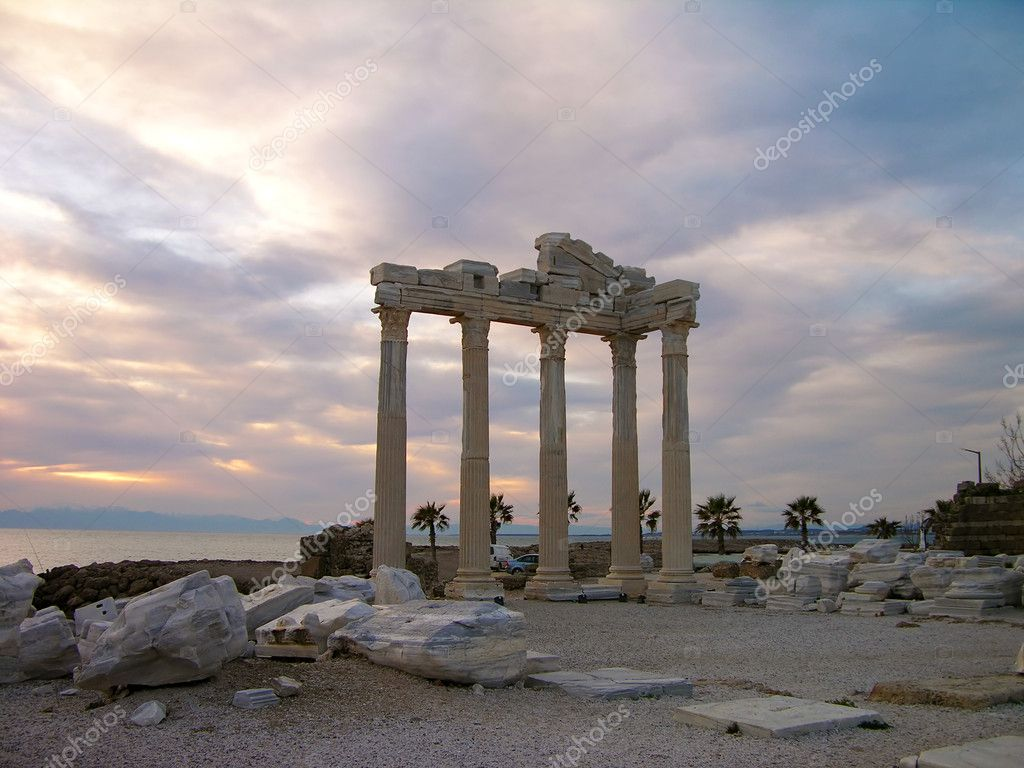 Temple of Apollo, Side, Turkey — Stock Photo © karnizz ...