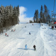 Ski track with chair lift in the mountains — Stock Photo #4784588