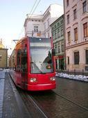 Tram in Krakow — Stock Photo