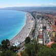 Nice city beach panoramic view, France — Stock Photo
