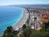 Vue panoramique de la plage jolie ville, france — Photo