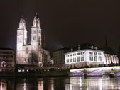 Zurich at night, Switzerland — Stock Photo
