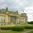 Reichstag building (German parliament), Berlin - Stock Photo