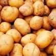 Potato crop collected in wooden box — Stock Photo #4043514