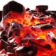 Stock Photo: Heated coals for shish kebab in brazier
