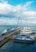Yachts Docked on the Odessa — Stock Photo
