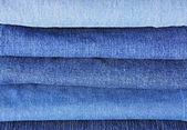 Jeans stapel achtergrond — Stockfoto