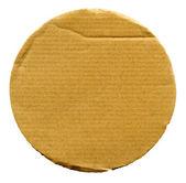 Cardboard circle — Stock Photo