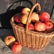 Basket with apples — Stock fotografie