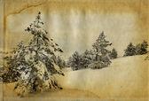 Winter retro foto — Stockfoto
