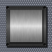 Brushed metal plate — Stockfoto