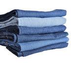 Pila de jeans aislado — Foto de Stock