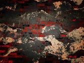 Grunge tegelvägg — Stockfoto