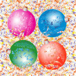 Colour Christmas balls. — Stock Vector