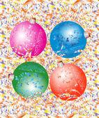 Colour Christmas balls. — Stock Vector