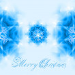 Christmas card with snowflakes — Stock Photo