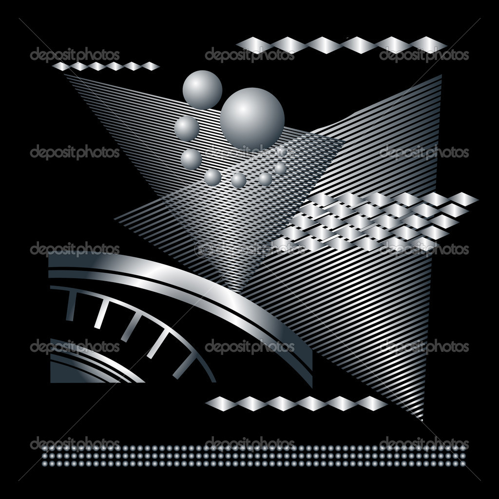 Abstract graphical technical black background  Stock Vector #4433811