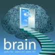 Door in the brain - Imagen vectorial