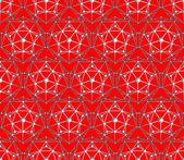Naadloze vector veelhoek pentagon achtergrond — Stockvector