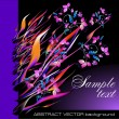 Vector fantasy flowers background - Vettoriali Stock
