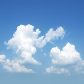 Cumulus cloud, fleecy clouds — Stock Photo