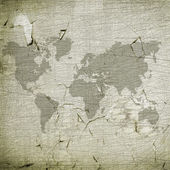 Grungy world map — Stock Photo