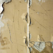 Old gypsum plasterboard. Cracked wall for background    texture — Stock Photo