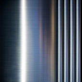 Turned metal cylinder on black background — Stock Photo