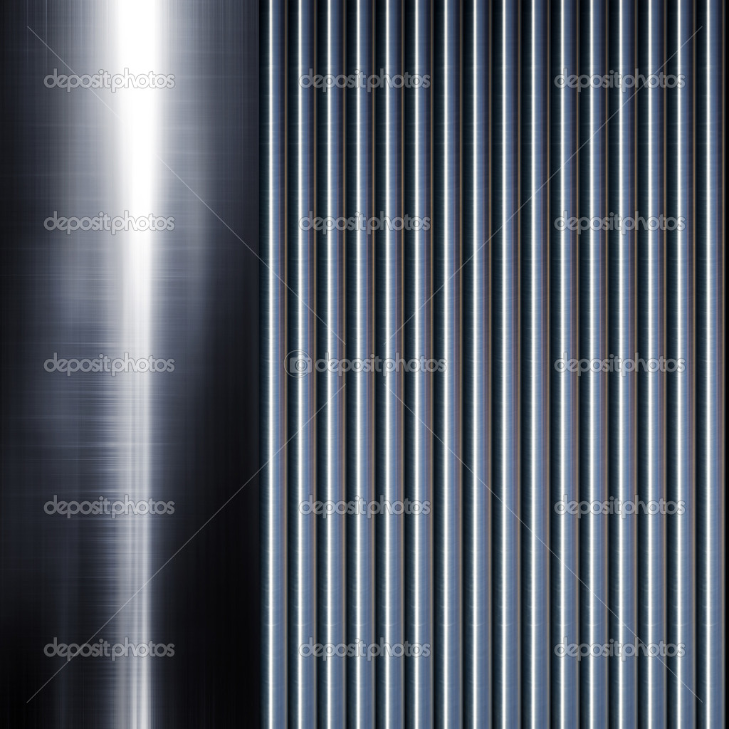 Turned metal cylinder on black background — Stock Photo #4875861