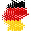 Map and flag of Germany — Stock Photo