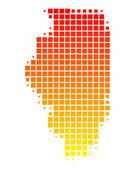 Map of Illinois — Stockfoto