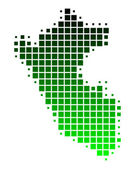 Detailed and accurate illustration of map of Peru — Stock Photo