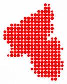 Map of Rhineland-Palatinate — Stock Photo