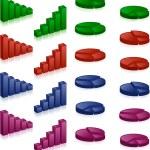 3D-Diagramme — Stockvektor